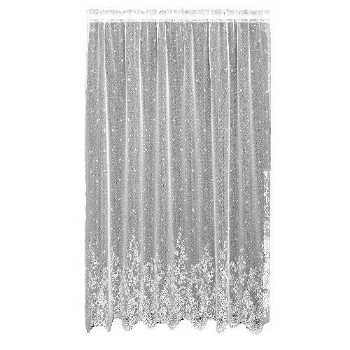 Heritage Dentelle Floret Drop Panel, Écru, 60 x 84-inch-p, Blanc, 66 x 54-inch