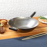Best Carbon Steel Woks - Joyce Chen Flat Bottom Wok, Standard, Metal Review