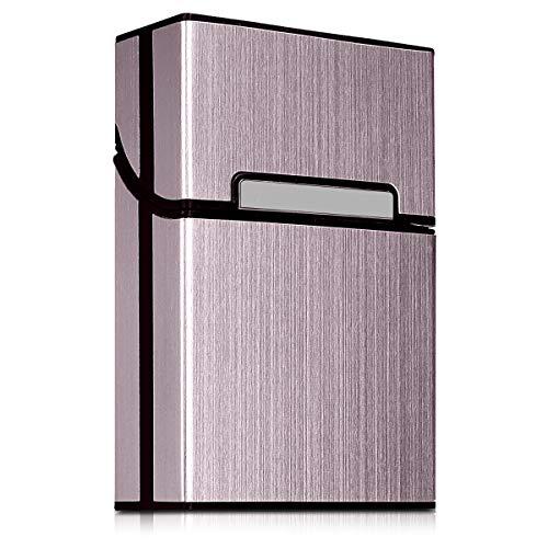 kwmobile Étui à Cigarettes en Aluminium - Boîte de Protection Porte-Cigarette avec Fermeture Aimantée - Or Rose