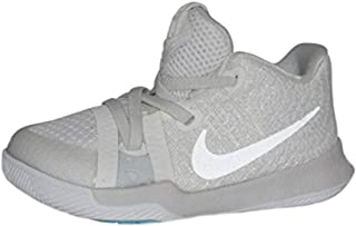 NIKE Infant Kyrie 3 Basketball Shoes (Ivory/Pale Grey-Light Bone, 6C)