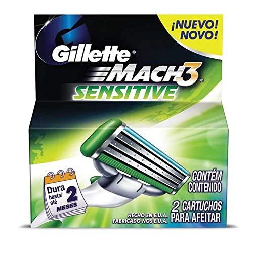 Carga para Aparelho de Barbear Gillette Mach3 Sensitive - 2 unidades