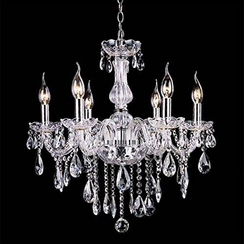 PEATAO Acrylic Crystal Chandeliers Lighting Fixture Pendant Light Ceiling Candle Chandelier 110V (US Stock)