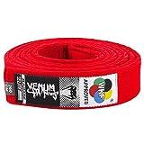 VENUM Karate Belt - Cinturón de Karate, Color Rojo, 260 cm