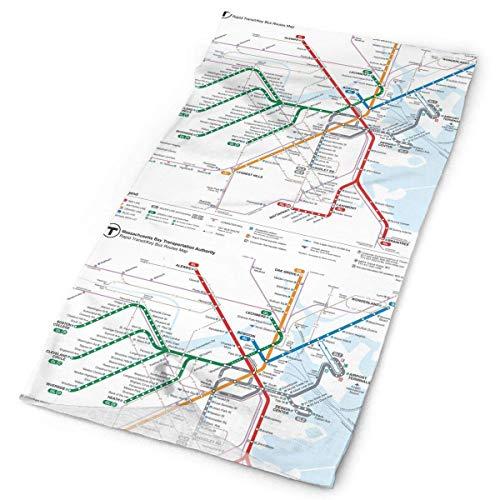 Lsjuee Boston Metro Map - Pañuelo facial unisex, a prueba de polvo, a prueba de viento, variado, pañuelo para la cabeza, pañuelos multifuncionales y antipolvo para exteriores