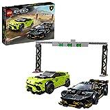 LEGO Speed Champions - Lamborghini Urus ST-X & Lamborghini Huracán Super Trofeo EVO, Set de Construcción con 2 Coches...