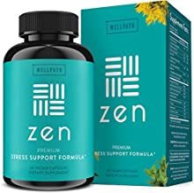 Zen Anxiety and Stress Relief Supplement - Premium Herbal Formula Supporting Calm Mood with Ashwagandha, L-Theanine, Rhodiola - for Occasional Anxiety - 60 Ct