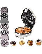 Professioneel Wafelijzer,7-In-1 Elektrische Wafelijzer, Sandwichmachine, Bubble Egg Cake Oven Keuken Ontbijt Bubble Waffle Donuts Multi-Baker (500-650W)