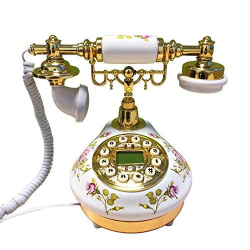 CXYY Festnetz Retro-Telefon,Desktop-Schnurgebundenes Telefon Vintage Retro-Festnetz-Telefonanrufer des Antiken Zifferblatt-Desktop-Stils Für Home Business Office