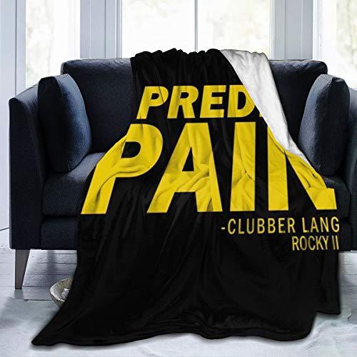 Nujshf Rocky Clubber Lang I Predict Pain Fleece-Flanell-Überwurf, Decke, leicht, ultraweich, warm, für Bett und Sofa geeignet