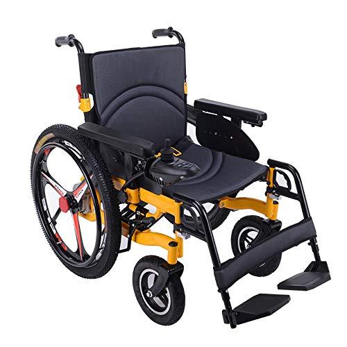 Powerchair Leggero Pieghevole Portatile Elettrico della Sedia a rotelle di Potere della Sedia a rotelle con Freno a Mano, Pedale Rimovibile, Batteria al Piombo 20A