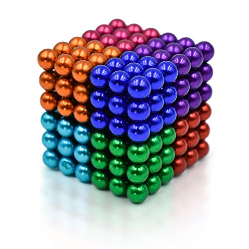 mybrand Sky Magnets 5 mm Magnetic Balls Cube Fidget Gadget Toys Rare Earth Magnet Office Desk Toy Games Magnet Toys Multicolor Beads Stress Relief Toys for Adults