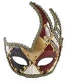 Men's Masquerade Mask Costume Mask Vintage Venetian Mardi Gras Mask (Red)