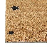 Relaxdays Fußmatte Kokos Motiv STERNE 40 x 60 Kokosmatte mit rutschfester PVC Unterlage Türmatte und Fußabtreter aus Kokosfaser als Schmutzfangmatte und Sauberlaufmatte oder Türvorleger, schwarz - 4