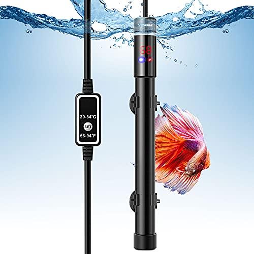 VIVOSUN 300W Aquarium Heater Submersible Titanium Fish Tank Heaters with Intelligent LED Temperature Display and External Temperature Controller