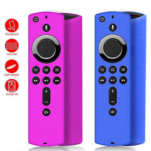 [2 Pack ] Firestick Remote Cover Case, Silicone Fire Remote Cover Case...