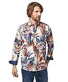 Joe Browns Funky Floral Shirt Camisa, A-Multi, L para Hombre