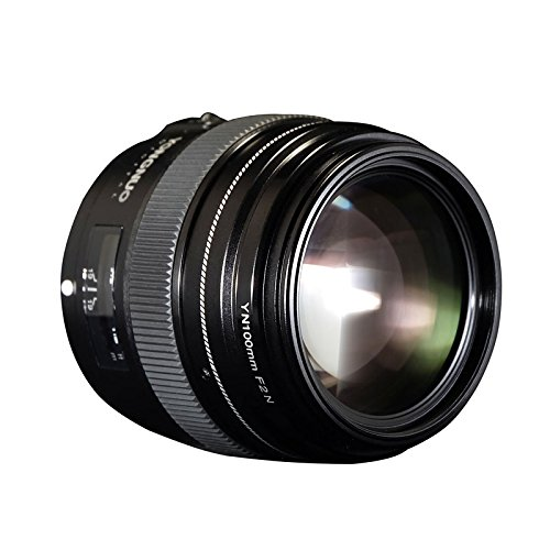 SSSabsir YONGNUO 100MM YN100mm F2N Large Aperture AF/MF Medium Telephoto Prime Lens for Nikon D7200 D7100 D7000 D5600 D5300 d3400 d3100