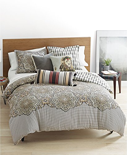 commercial Martha Stewart Caprice Reversible Sea Shore Tan 3-Pc from the Bohemian Rhapsody Collection. Full / Queen … martha stewart bedding sets