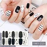 14 puntas Nail Art Stickers Colorido Adhesivo Adhesivo DIY Manicura Brillante Lentejuelas Tiras de esmalte de uñas Wraps Accesorios para mujeres-YMX-223-