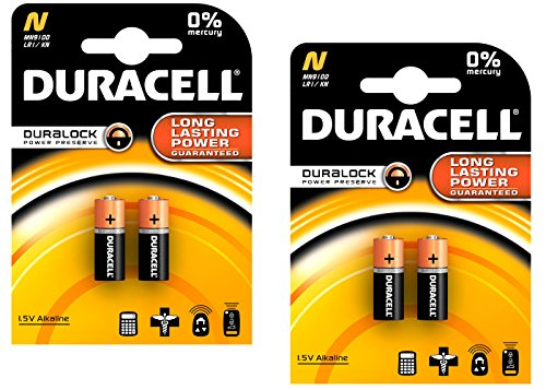 Duracell MN9100/E90/LR1 Medical Battery 1.5 V Card 2 Size N - 2 Count, 2 Pack - 4 Batteries Total