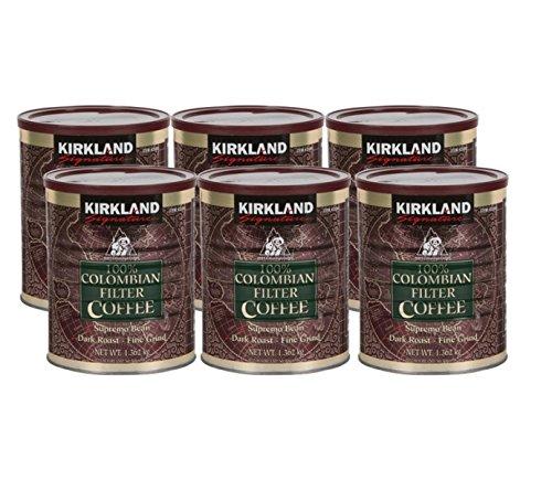 Kirkland Signature 100% Colombian Ground Filter Coffee, 1.362 kg