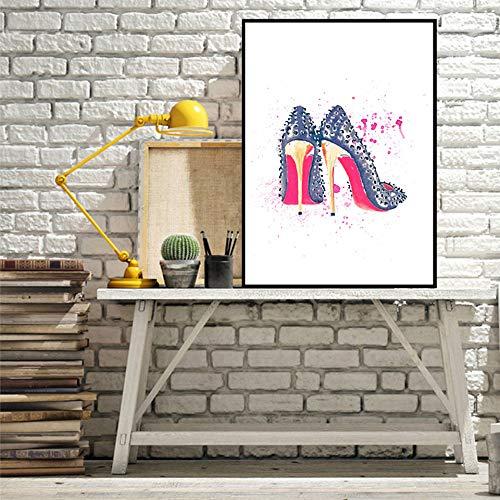 mmzki Wandkunst Leinwand Nordic Gemälde Bilder Parfüm Lippenstift HD Drucke Tasche Schuhe Dekoration Poster Für Wohnzimmer Modulare