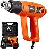 VOLLTEK Heat Gun 1800Watt Variable Temperature and 6Pcs Accessories Hot Air Gun Kit Heating Protect, 2 Modes Heating Setting for Shrink Wrapping, Vinyl Wrap, Soldering, Tube Bending, VPHG1012