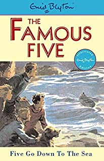 The Famous Five Five Go Down to the Sea by Enid Blyton - Paperback