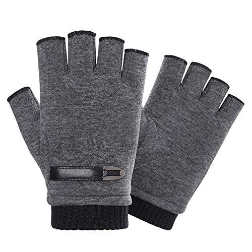 INTVN Guantes de invierno sin dedos 1 Pares Guantes sin dedos hombre Unisex Hombre Mujer(gris)