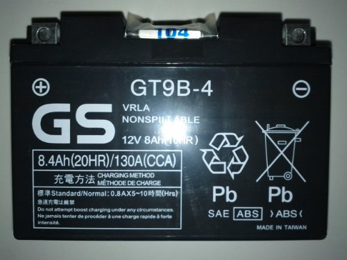 Bateria GT9B-4 equivalente a YT9B-4 YT9B-BS Original Yamaha