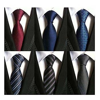WeiShang Lot 6 PCS Classic Men s 100% Silk Tie Necktie Woven JACQUARD Neck Ties