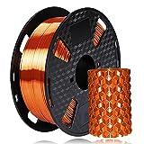 Amazon Brand - Eono PLA 3D-Druckerfilament - Seiden kupfer Glänzendes Metall material -1,75 mm - 1 kg 2,2 lbs Spule,Hat eine metallisierende Optik
