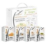 Alimenti Proteici in BAG COMPLETO con PASTA | Opzione A = 21 preparati PROTEICI (buste proteiche) senza Carboidrati e senza Zuccheri + 7 confezioni da 50 grammi di PASTA PROTEICA al 60% di Proteine | Una settimana completa con colazione, spuntino, pranzo e cena.