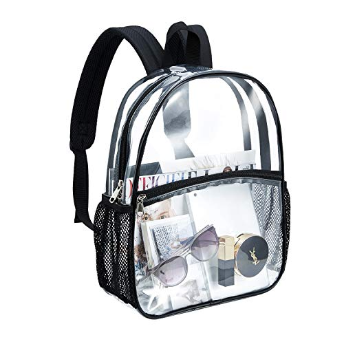 Clear backpack heavy duty school Daypack see through transparent...