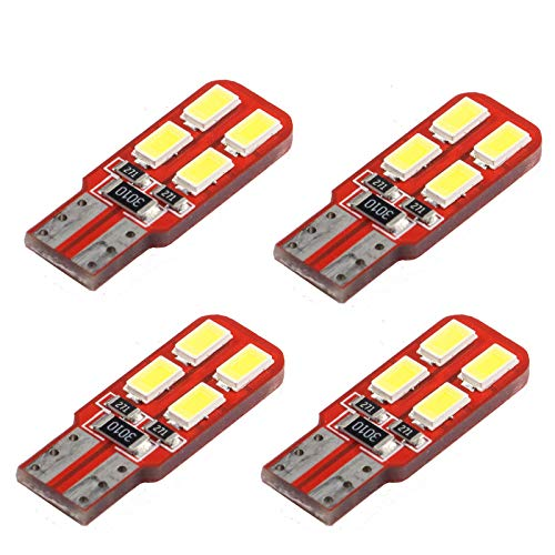 PA 4 x 8smd -5630-led T10 Double-side-canbus-luggage-interior-light-bulb Blanc