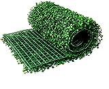 Paneles artificiales de boj, 24 * 16 UV, colapas de vegetación protegidas protegidas, decoración de tablas de pared adecuadas para alfombras de pared de jardín interior y al aire libre by Hongfubang