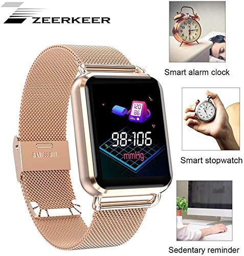 Zeerkeer Smartwatch, sportarmband, fitness track, bloeddruk, hartslag, slaapmonitor, tekstoproepherinnering met batterijen, app WhatsApp/Facebook/Twitter