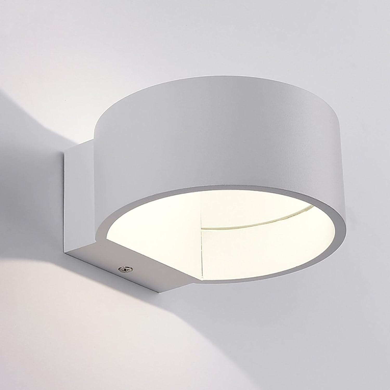 Wandleuchte Moderne Mode Minimalismus Metall Scrub LED Wandleuchte 5w Wei Schwarz Wandbeleuchtung (farbe   Wei)