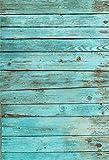 YongFoto 1x1,5m Vinilo Fondo de Fotografia Madera Tablero de Madera del Vintage de La Madera Azul Telón de Fondo Photo Booth Infantil Party Banner Niños Photo Studio Props