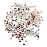 HEALLILY Azulejos de Mosaico de Cerámica de 250G Chips de Piezas de Mosaico de Vidrieras Cuadradas para Decoración Del Hogar