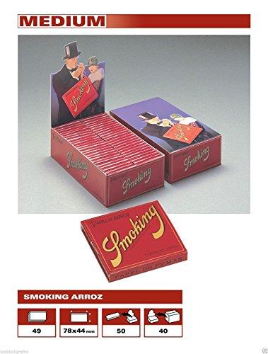 PAPEL SMOKING ARROZ 78MM 49 HOJAS (CADA ESTUCHE CONTIENE 100 LIBRITOS)