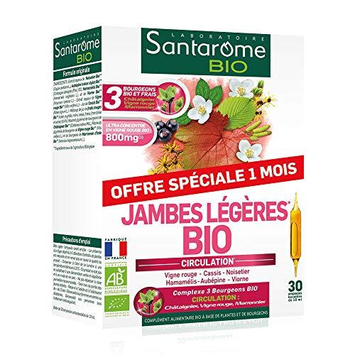 Santarome Bio Jambes Légères 30 Ampoules Complément Alimentaire Circulation Programme 30 Jours