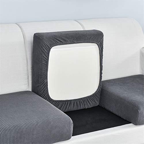 Funda de cojín elástica para sofá de color sólido, funda de sofá de cuatro estaciones universal para sofá individual y doble combinación (gris,12)
