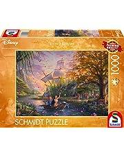 Disney, Pocahontas Puzzle 1.000 Teile: Erwachsenenpuzzle Thomas Kinkade Collection
