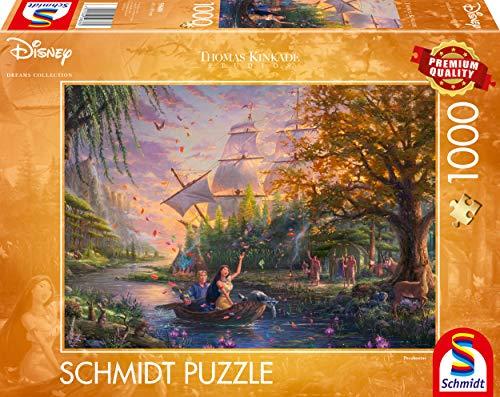 Schmidt- Thomas Kinkade, Disney, Pocahontas, Puzzle da 1000 Pezzi, Multicolore, 59688