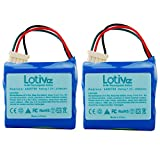 Lotive 2 Packs 7.2V 3500mAh Ni-MH Vacuum Cleaner Replacement Battery Compatible with 7.2V iRobot 4409709 and iRobot Braava 380 380T 390 390T iRobot Mint 5200 5200B 5200C Floor Mopping Robots