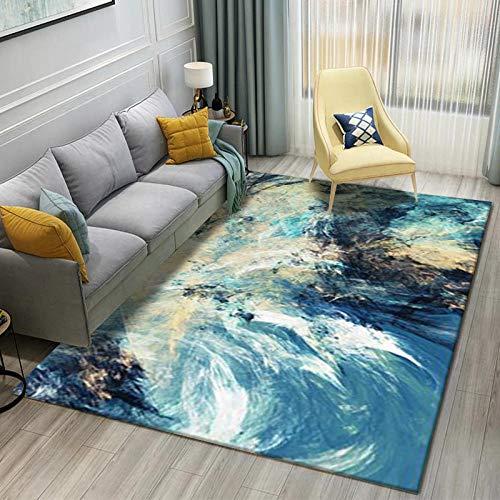 Alfombra Moderna Alfombras Salon Grande Cielo Abstracto de la Superficie de la Tierrapara Dormitorio y decoración del hogar 150*200
