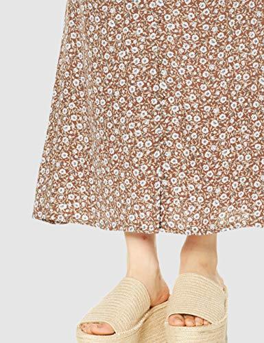 [フレイアイディー]フラワープリントナロースカートFWFS202004レディースBRW日本0(日本サイズ7号相当)