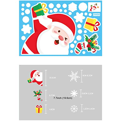 Printasaurus Santa Stickers  Christmas Electrostatic Stickers Snowflake Elk Set Door Window Glass Stickers Home & Garden Home Decor