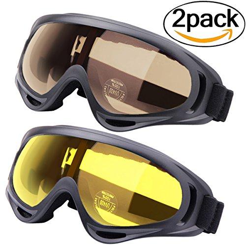 Gafas a prueba de viento, Outgeek 2 Pack Deportes al aire libre...